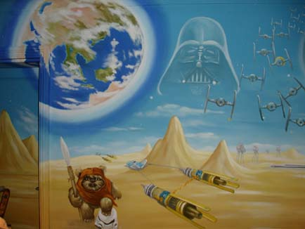 star wars wall mural